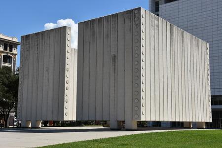달라스, 텍사스에서 존 피츠 제럴드 케네디 기념관 에디토리얼