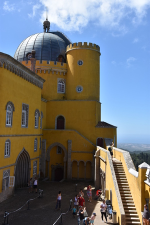 Pena Palace in Sintra, Portugal Editorial