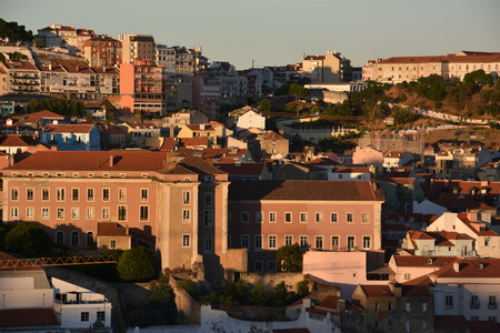 View of Lisbon (from Bairro Alto) in Portugal