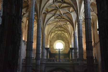 The chapel at Jeronimos Monastery at Belem in Lisbon, Portugal
