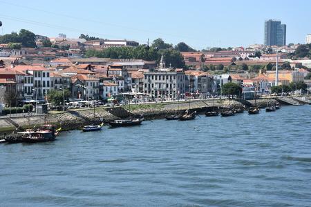 Vila Nova de Gaia in Porto, on the river Douro, in Portugal Editorial
