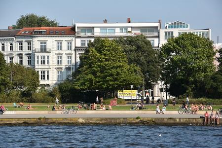 Lake Alster in Hamburg, Germany