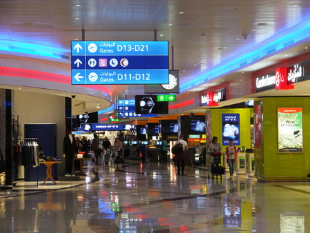light duty: Terminal 1 at Dubai International Airport in the UAE