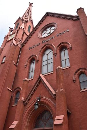 fibra de vidrio: Iglesia Bautista del Calvario en Washington, DC Foto de archivo