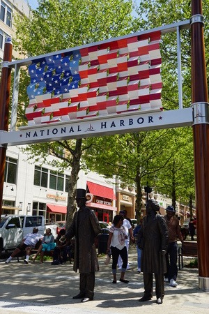 Welcome to the American Way at National Harbor in Oxon Hill, Maryland Editorial
