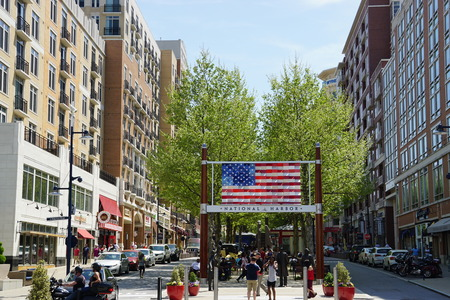louis armstrong: Welcome to the American Way at National Harbor in Oxon Hill, Maryland Editorial