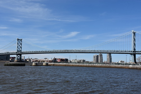 Benjamin Franklin Bridge in Philadelphia, Pennsylvania