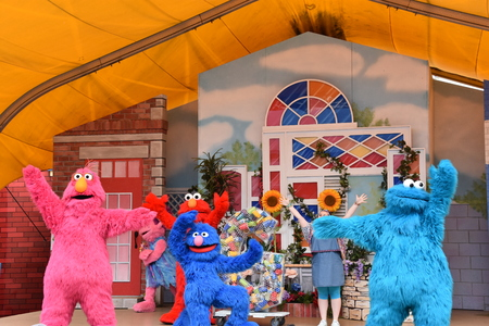 The Magic of Art show at Sesame Place in Langhorne, Pennsylvania