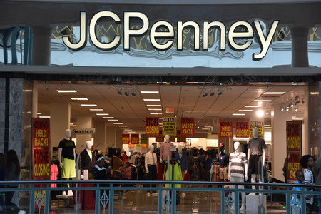 JCPenney store at King of Prussia Mall in Pennsylvania Editorial