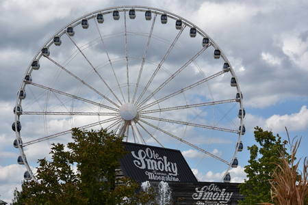 Great Smoky Mountain Wheel at The Island in Pigeon Forge, Tennessee Editorial