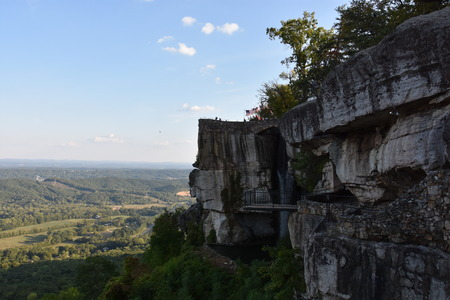 Lover`s Leap at Rock City Gardens at Lookout Mountain in Chattanooga, Tennessee