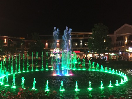 The Fountain Show at The Island in Pigeon Forge, Tennessee Editorial