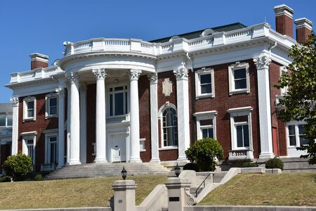 The Faxon-Thomas Mansion, the original Hunter Museum of American Art, in Chattanooga, Tennessee