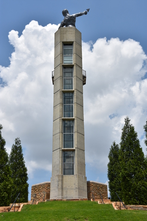 Vulcan, the largest cast iron statue in the world, in Birmingham, Alabama