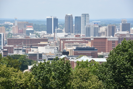 View of Birmingham, Alabama, from Vulcan Park Editorial