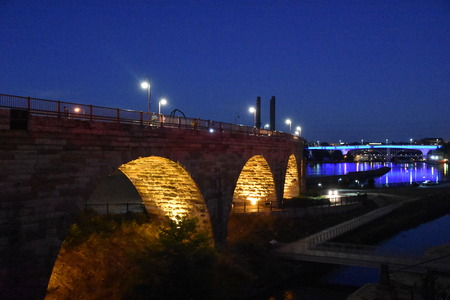 Stone Arch Bridge in Minneapolis, Minnesota