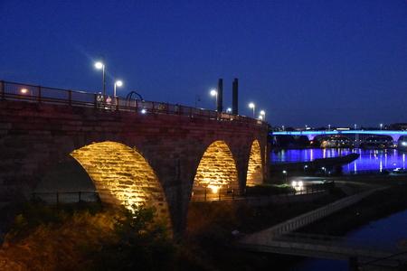 Stone Arch Bridge in Minneapolis, Minnesota