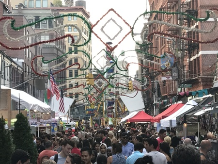 2017 Feast Of San Gennaro at Little Italy in New York City