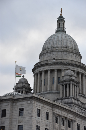 Rhode Island State Capitol in Providence Stock Photo