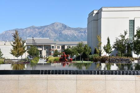 Mormon Temple in Ogden, Utah Stock Photo