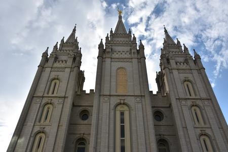 Mormon Temple at Temple Square in Salt Lake City, Utah