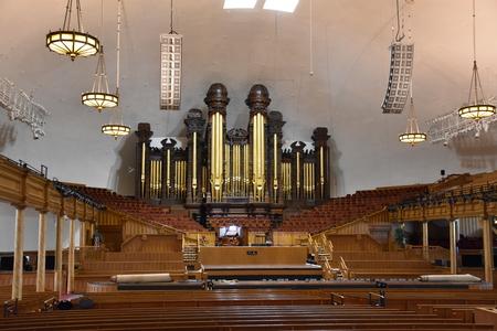 Mormon Tabernacle at Temple Square in Salt Lake City, Utah Editorial
