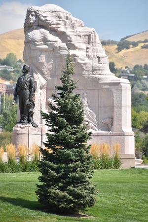 Mormon Battalion Monument at the Utah State Capitol in Salt Lake City, Utah