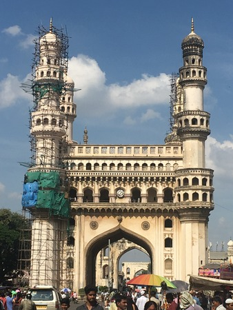 Charminar in Hyderabad (Andhra Pradesh) in India Stock Photo - 101666344