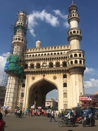 Charminar in Hyderabad (Andhra Pradesh) in India