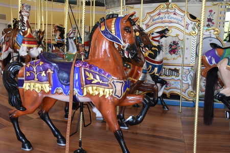 Historic Nunley's Carousel on Museum Row in Garden City on Long Island in New York 報道画像
