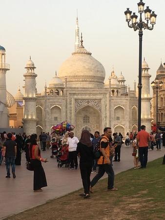 India pavilion at Global Village in Dubai, UAE, as seen on Mar 17, 2018 新聞圖片