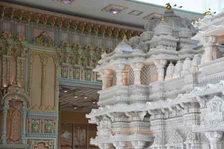 The Akshardham temple in Robbinsville, New Jersey. It is planned to be spread over 162 acres, making it the largest Hindu temple in the world in terms of acreage.
