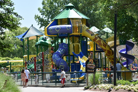 BOSTON, MA - JUN 16: Playground at Franklin Park Zoo in Boston, Massachusetts, as seen on Jun 16, 2018. The zoo was opened to the public in 1912.