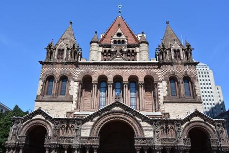 Trinity Church at Copley Square in Boston, Massachusetts
