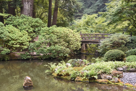 Portland Japanese Garden in Oregon