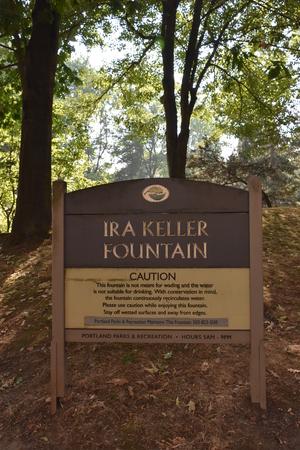 Ira Keller Fountain in Portland, Oregon Editorial