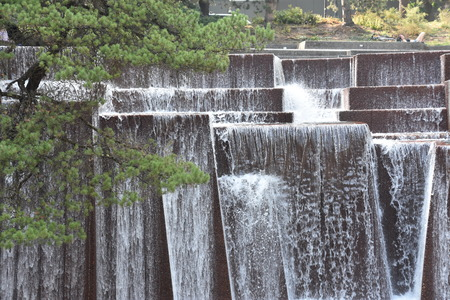Ira Keller Fountain in Portland, Oregon Stock Photo
