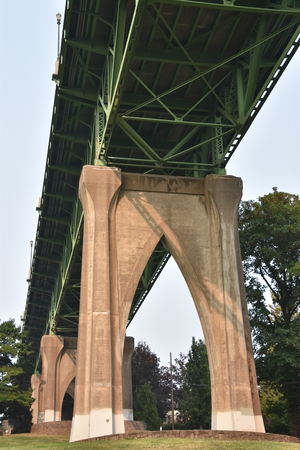 St Johns Bridge and Cathedral Park in Portland, Oregon