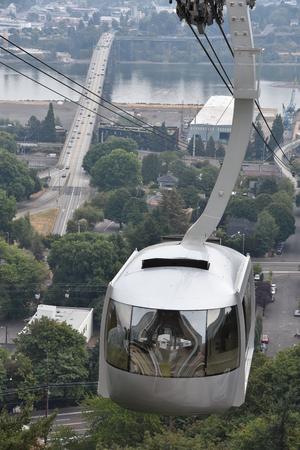 Portland Aerial Tram or Oregon Health & Science University Tram Banco de Imagens