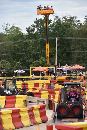 Diggerland USA, the only construction themed adventure park in North America, in West Berlin, New Jersey