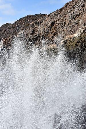 La Bufadora Blowhole in Ensenada, Mexico 版權商用圖片