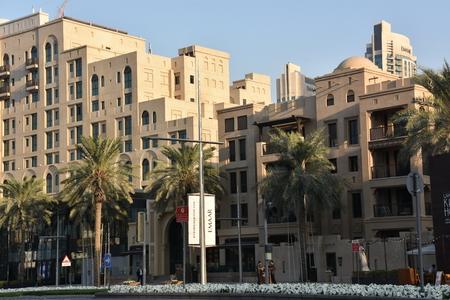 DUBAI, UAE - DEC 20: Emaar Boulevard now known as Sheikh Mohammed Bin Rashid Boulevard in Dubai, UAE, as seen on Dec 20, 2018. 新聞圖片
