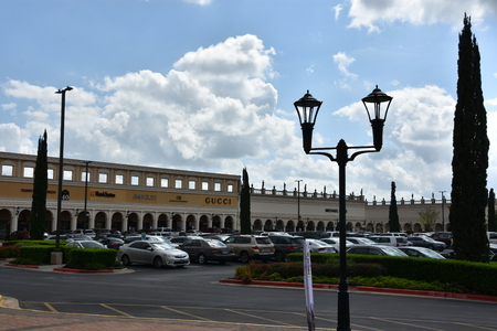 SAN ANTONIO, TX - OCT 14: San Marcos Premium Outlets in Texas, as seen on Oct 14, 2018. Combined, the two adjacent malls have more than 350 stores, and an excess of 1,000,000 sq ft.