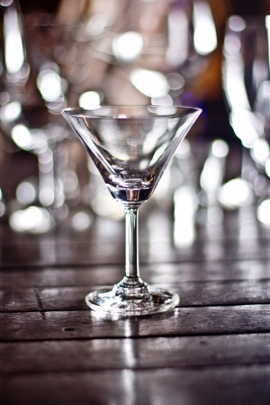 A glass with bokeh background  photo