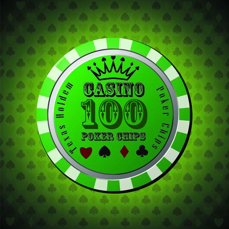 Poker chip 100 Illustration