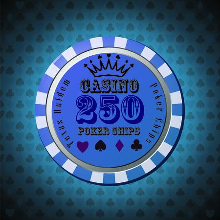 Poker chip 250 Stock Vector - 31877443