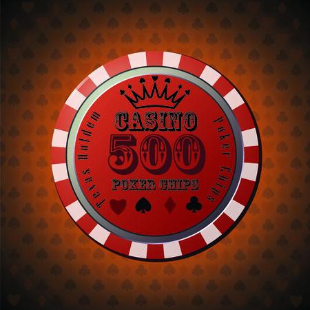 casino chips: Poker chip 500
