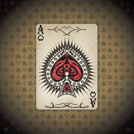 ace: Ace of spades poker card old look