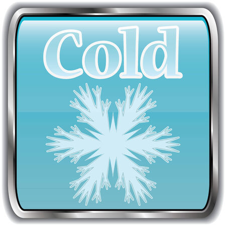 cold weather: Day weather icon with text cold.