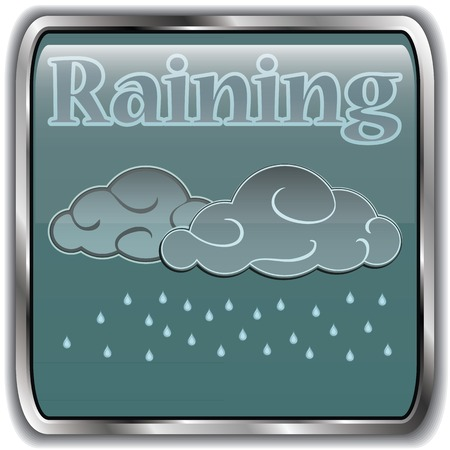 raining: Night weather icon with text raining.